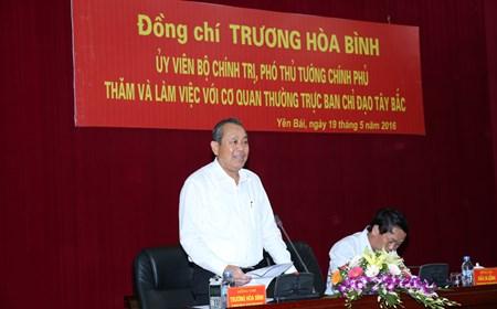 Phó Thủ tướng Trương Hòa Bình làm việc với Ban Chỉ đạo Tây Bắc