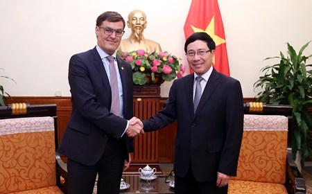 Phó Thủ tướng Phạm Bình Minh tiếp thứ trưởng Ngoại giao Venezuela
