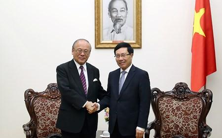 Phó Thủ tướng tiếp Cố vấn đặc biệt Liên minh Nghị sĩ hữu nghị Nhật-Việt