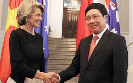 Bộ trưởng Ngoại giao Australia thăm Việt Nam