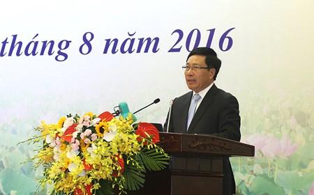 Phát biểu của Phó Thủ tướng Phạm Bình Minh tại Hội nghị Ngoại vụ toàn quốc lần thứ 18