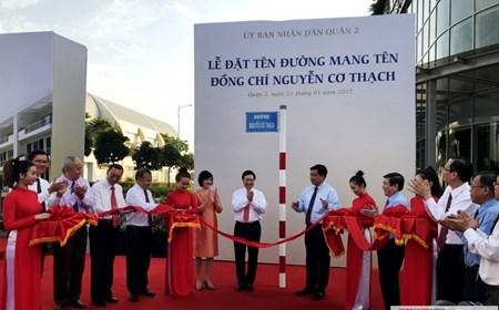 Chính thức đặt tên đường Nguyễn Cơ Thạch tại TP. Hồ Chí Minh