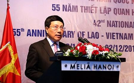 Phát biểu của Phó Thủ tướng Phạm Bình Minh nhân dịp Quốc khánh Lào