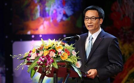 Phó Thủ tướng Vũ Đức Đam phát biểu tại lễ kỷ niệm của ngành du lịch