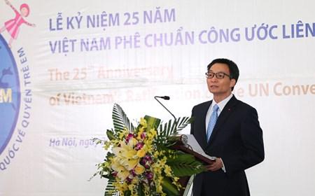 Phó Thủ tướng phát biểu tại Lễ kỷ niệm 25 năm Việt Nam phê chuẩn Công ước về quyền trẻ em