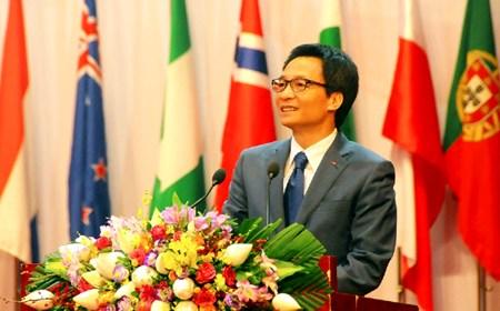 Phó Thủ tướng Vũ Đức Đam phát biểu tại lễ bế mạc Olympic Sinh học