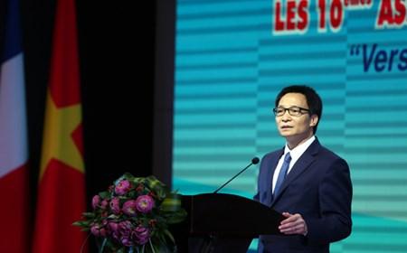 Phát biểu của Phó Thủ tướng Vũ Đức Đam tại Hội nghị Hợp tác giữa các địa phương Việt Nam - Pháp lần thứ 10