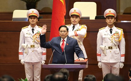 Lễ tuyên thệ nhậm chức của Thủ tướng Chính phủ Phạm Minh Chính
