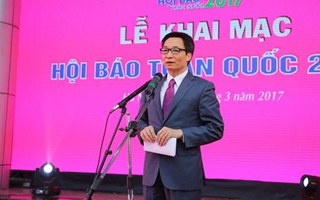 Phát biểu của Phó Thủ tướng tại Lễ Khai mạc Hội báo toàn quốc 2017