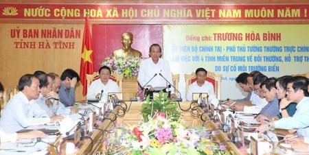 Phó Thủ tướng thường trực kiểm tra công tác bồi thường thiệt hại cho người dân 4 tỉnh miền Trung - ảnh 5