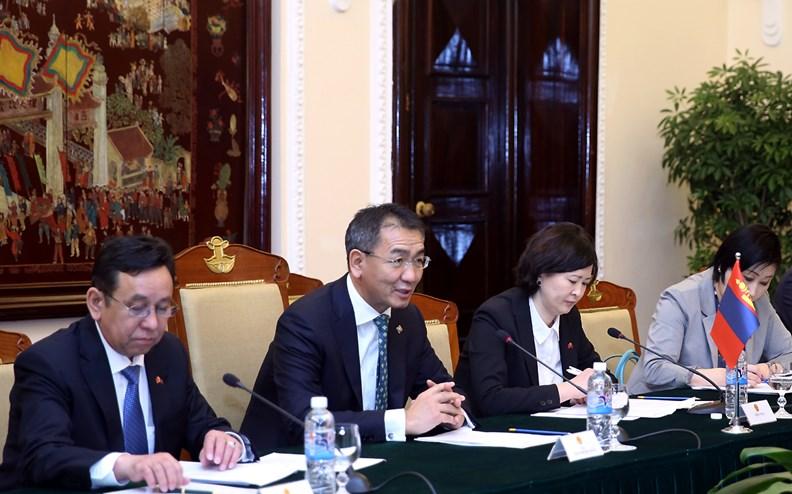 Bộ trưởng Ngoại giao Mông Cổ Tsend Munkh-Orgil thăm chính thức Việt Nam - ảnh 6