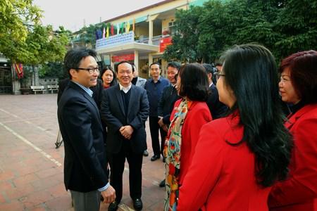 Hai lời hứa với Phó Thủ tướng của Trường Tiểu học Ngọc Hà - ảnh 1