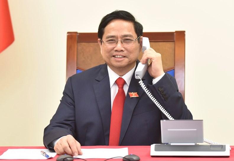 Thủ tướng Chính phủ Phạm Minh Chính điện đàm với Thủ tướng Campuchia - ảnh 1