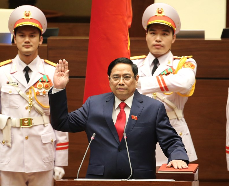 Photos: PM Pham Minh Chinh delivers first policy speech - ảnh 1