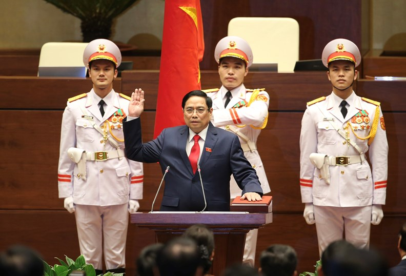 Photos: PM Pham Minh Chinh delivers first policy speech - ảnh 2