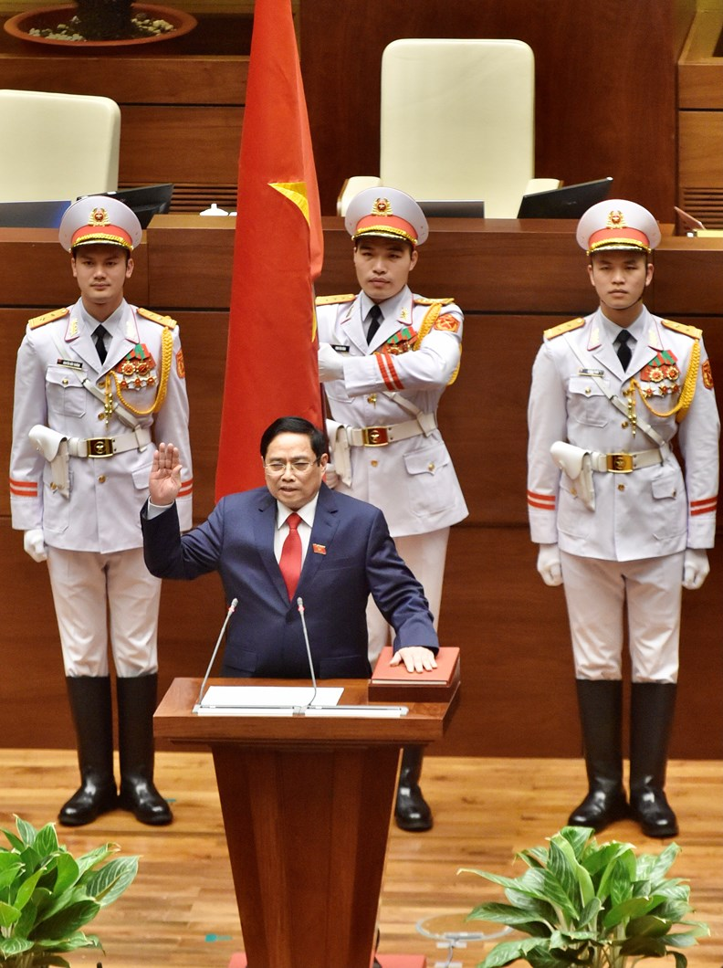 Photos: PM Pham Minh Chinh delivers first policy speech - ảnh 3
