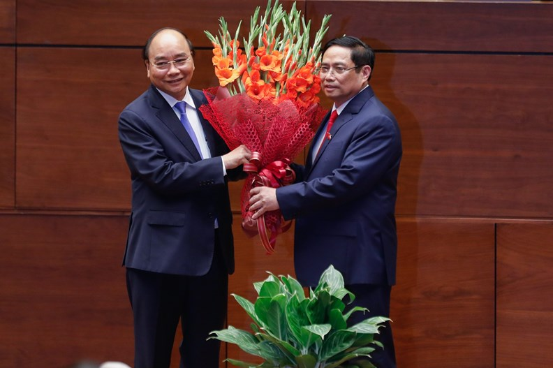 Photos: PM Pham Minh Chinh delivers first policy speech - ảnh 4