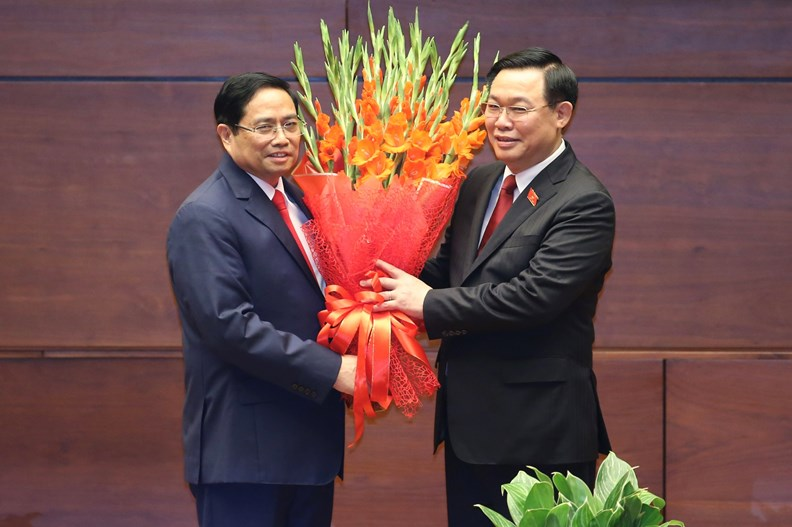 Photos: PM Pham Minh Chinh delivers first policy speech - ảnh 5